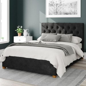 Olivier Ottoman Bed Kimyo Linen Charcoal Single Mfp104292