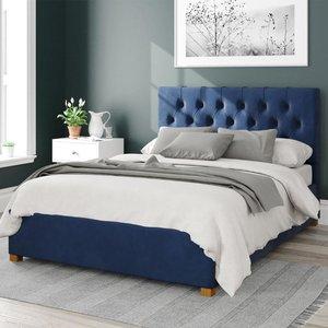 Olivier Ottoman Bed Velvet Navy Single Mfp104197