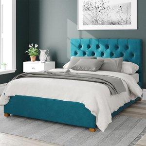 Olivier Ottoman Bed Velvet Teal Double Mfp104224
