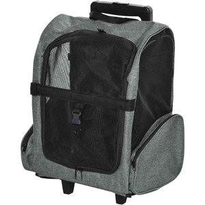 Pawhut Pet Travel Backpack Bag W/ Trolley And Telescopic - Grey D00 136gy