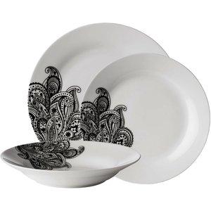 Premier Housewares 12-piece Avie Prince Dinner Set - Black