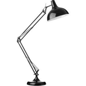 Premier Housewares Fully Adjustable Study Floor Lamp In Black Metal  5018705795249