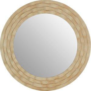 Premier Housewares Gwenn Wall Mirror With Wooden Frame - Antique Silver Finish 5503083 5018705411514