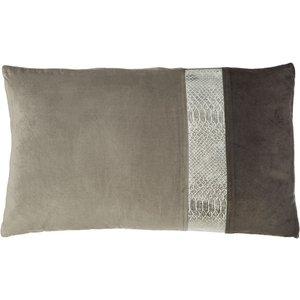 Premier Housewares Kensington Townhouse Square Cushion Snakeskin Effect - Grey