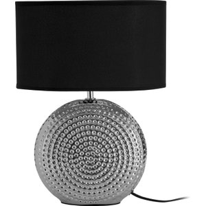 Premier Housewares Large Table Lamp With Hammered Chrome Finish  5018705726984