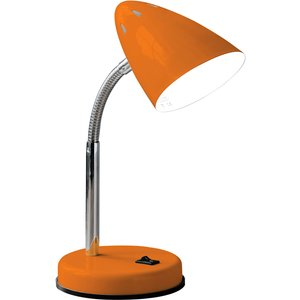 Premier Housewares Maison By Interiors Suki Desk Lamp With Flexible Stem - Orange Gloss/ch