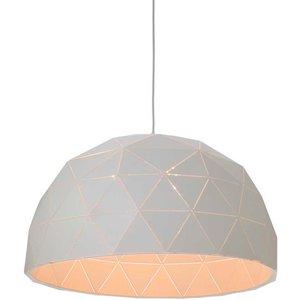 Premier Housewares Mateo Large Dome Pendant Light - White 5511315