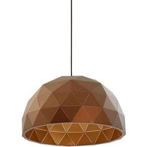 Premier Housewares Mateo Medium Dome Pendant Light - Brown 5511313