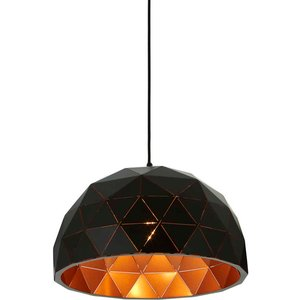 Premier Housewares Mateo Small Dome Pendant Light - Matt Black 5511308