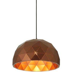 Premier Housewares Mateo Small Dome Pendant Light - Brown 5511309
