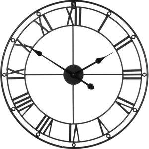 Premier Housewares Metal Wall Clock - Matte Black  5018705344812
