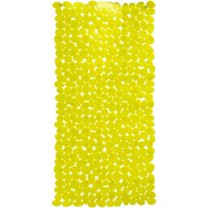 Premier Housewares Solid Green Pebble Pvc Bath Mat 69 X 36cm  5018705336251
