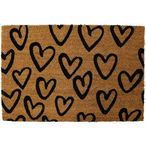 Pride Of Place 40 X 60cm Astley Pvc Backed Coir Doormat - Hearts