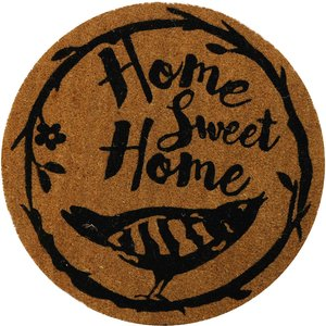 Pride Of Place 60 X 60cm Astley Pvc Backed Coir Doormat - Diamond Home Sweet Home