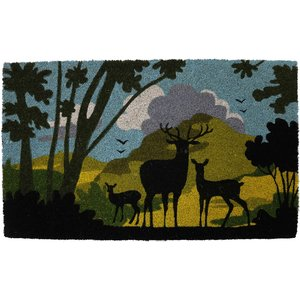 Pride Of Place Astley 45 X 75cm Countryside Silhouette Natural Coir Mat Cap4575mlwd1
