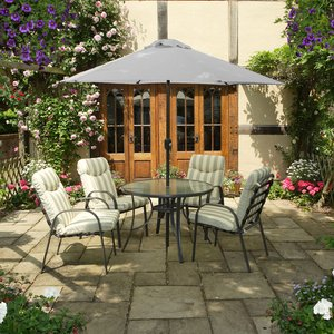 Provence 4-seater Dining Set With 2.5m Parasol Gset1501 5013709334135