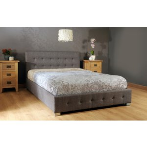 Reuben Ottoman Storage Double Bed - Grey  5057289856304