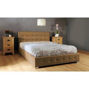 Reuben Ottoman Storage King Bed - Mocha  5057289856342