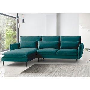 Rhonda Corner Chaise Sofa - Malta Peacock Teal 090 27 0055 099