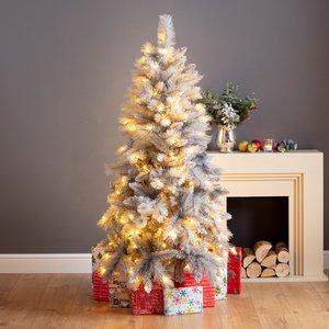 Robert Dyas 5ft Norfolk Prelit Grey Shimmer Christmas Tree Xms1356rd
