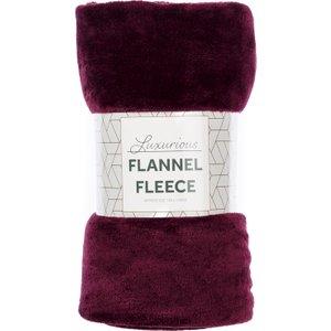 Robert Dyas Flannel Fleece Throw - Plum  5020260124839