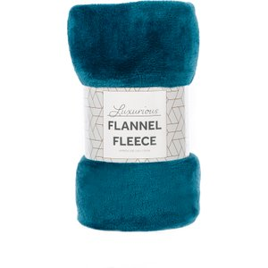 Robert Dyas Flannel Fleece Throw - Teal  5020260124822