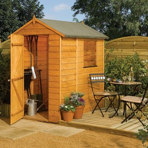 Rowlinson 4ft X 6ft Modular Wooden Apex Garden Shed Smod6x4th 5013856014577