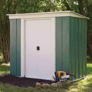 Rowlinson 6ft X 4ft Metal Pent Garden Shed Megv64 5013856993247