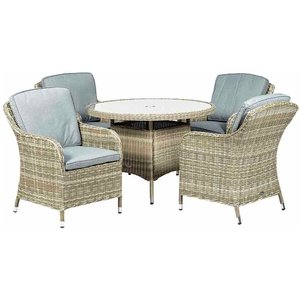Royalcraft Wentworth 4 Seater Round Imperial Dining Set Wen110imp Ws