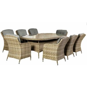 Royalcraft Wentworth 8 Seater Oval Imperial Dining Set Wen240ximp Ws