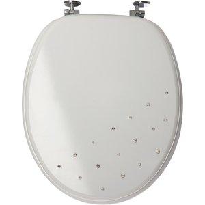 Sabichi Diamante Universal Fitting Toilet Seat - White