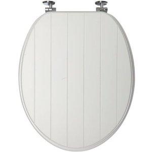 Sabichi Tongue And Groove Toilet Seat - White
