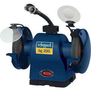 Scheppach Bg200 550 W 200 Mm Hd Bench Grinder Inc. Work Lamp 230 V