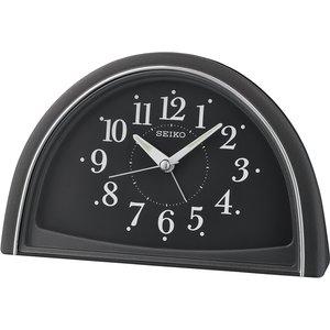 Seiko Analogue Beep Alarm Clock - Black Qhe140k