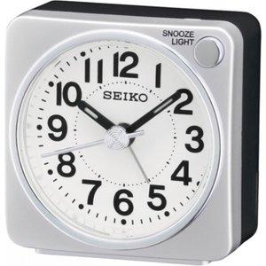 Seiko Bedside Alarm Clock - Silver Qhe118s 4517228828508