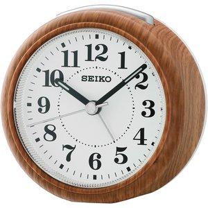 Seiko Beep Alarm Clock With Snooze & Light - Wood Effect Finish Qhe157b