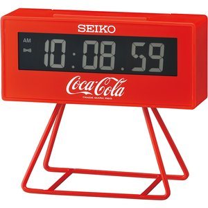Seiko Limited Edition Coca-cola Lcd Alarm Clock - Red Qhl901r