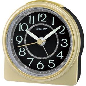 Seiko Round Analogue Beep Alarm Clock - Gold Qhe165g 4517228833694
