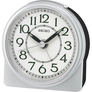 Seiko Round Analogue Beep Alarm Clock - Silver Qhe165s 4517228833700