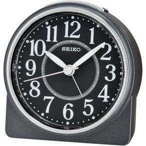 Seiko Round Beep Alarm Clock With Snooze - Black Qhe137k 4517228830075