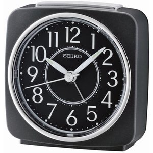 Seiko Square Beep Alarm Clock With Snooze - Black Qhe140k 4517228830938