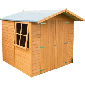 Shire Overlap 7ft X 7ft Wooden Apex Garden Shed  5060437981636