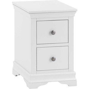 Sierra Sewla 2 Drawer Bedside Table - White