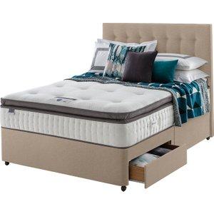 Silentnight Mirapocket Geltex 1000 90cm 2 Drawer Divan Set Sandstone  5037892368333