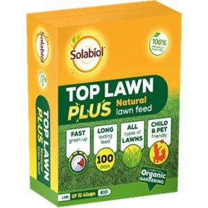 Solabiol Top Lawn Plus Natural Lawn Feed - 2.5kg 63sqm 86600680 3664715027775