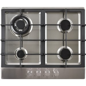 Statesman Gh61ss 60cm 4 Zone Glass Gas Hob - Stainless Steel