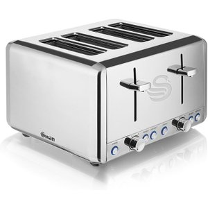 Swan 4-slice Polished Stainless Steel Toaster  5055322530488