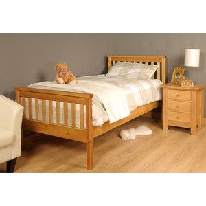 Talsi Single Bed Frame - Caramel