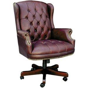 Teknik Chairman Leather Faced Swivel Chair - Burgundy B800bu 5020490000576