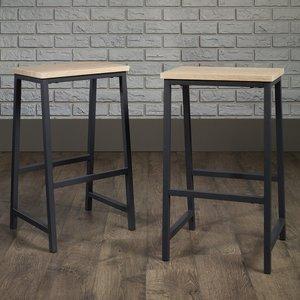 Teknik Industrial Style High Stool - Charter Oak Finish 5424944